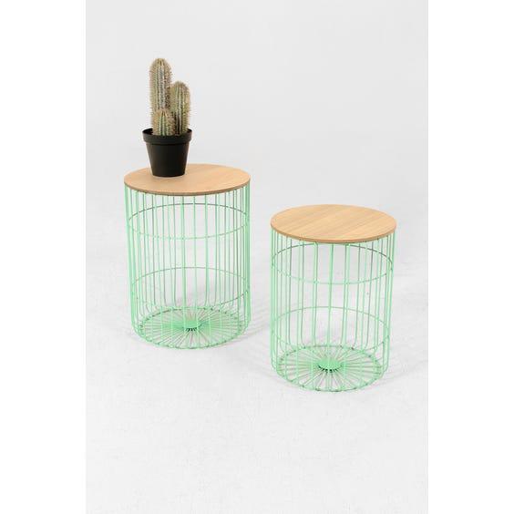 Green basket side tables image