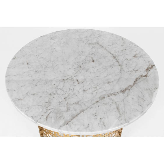 Marble top geometric side table image