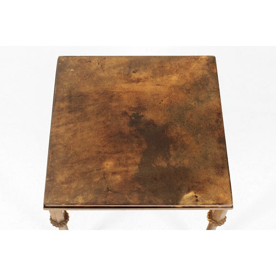 Small vellum top side table image