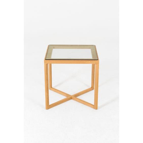 Modern square oak side table image