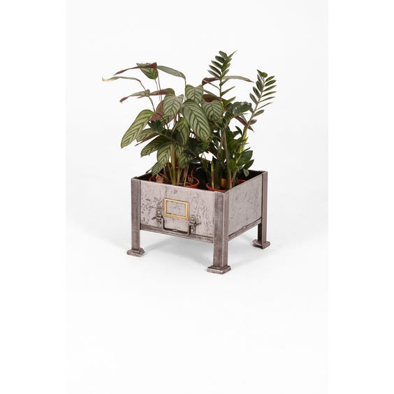 Industrial stripped metal planter image