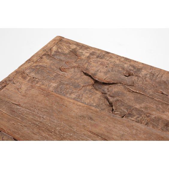 Rustic Chinese elm slab display table image