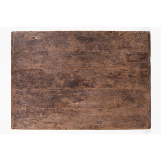 Rustic Chinese dark elm display table image