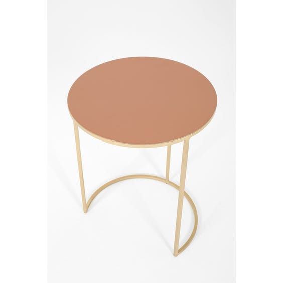 Modern pastel coral side table image