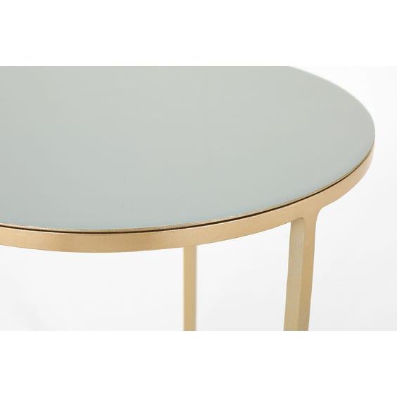 Modern grey enamel side table image