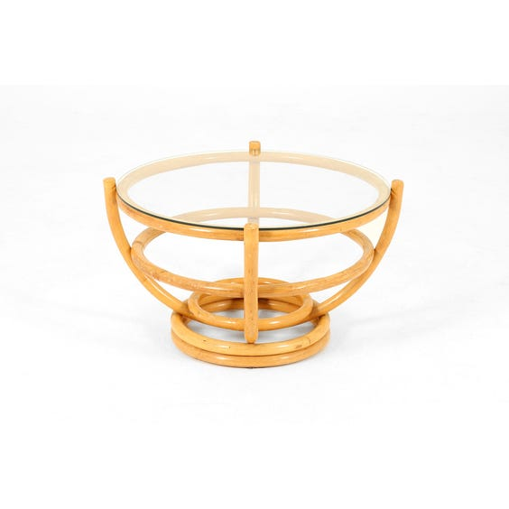 Circular bamboo occasional table image