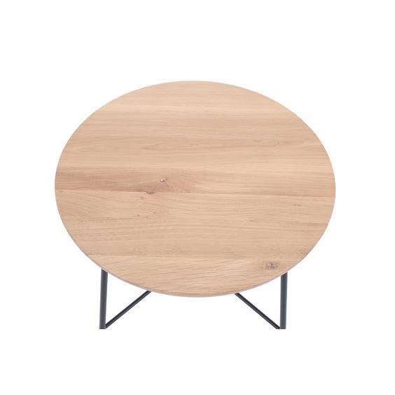 Modern oak circular side table image