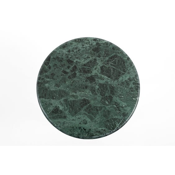 Green veined marble side table image