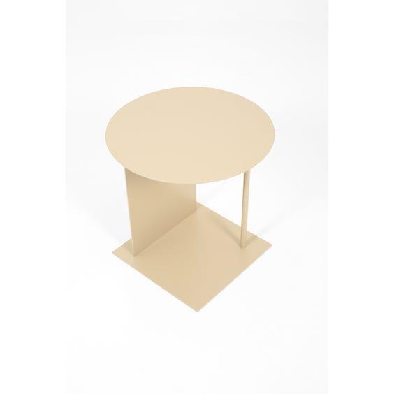 Postmodern putty metal side table image