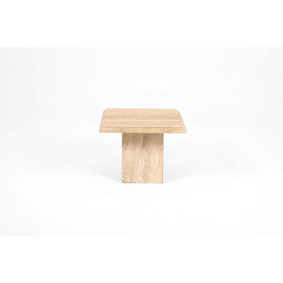 Postmodern square travertine table image