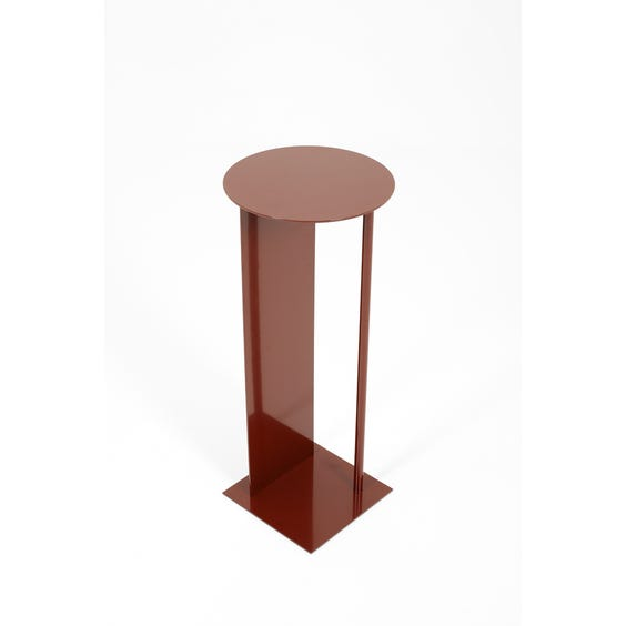 Postmodern burgundy plinth table  image