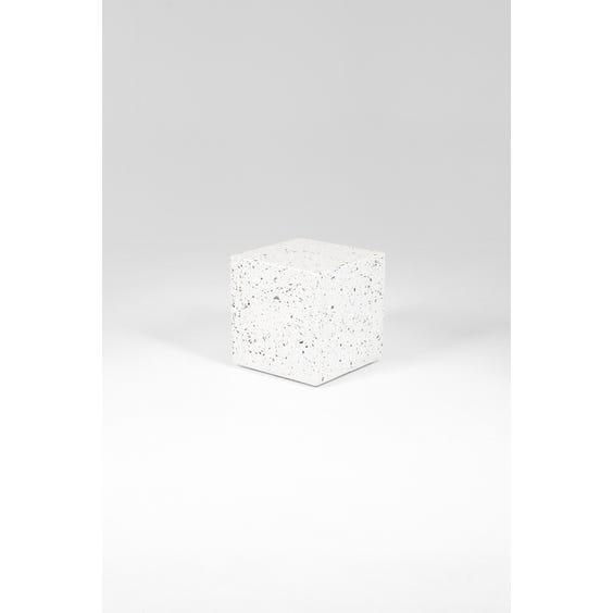 Postmodern large cube side table image