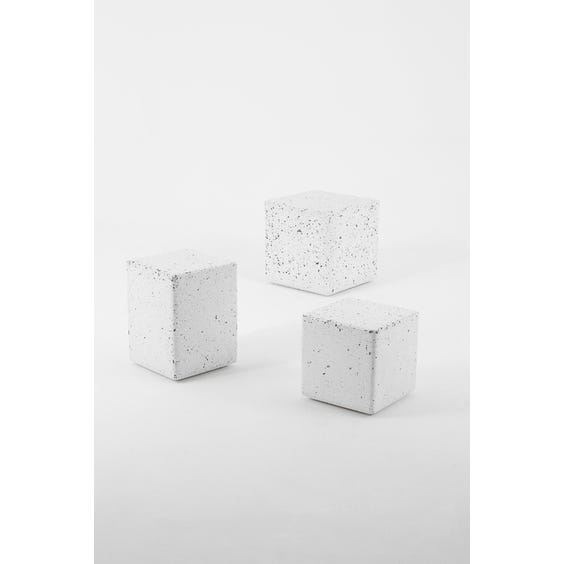 Postmodern tall small cube side table image