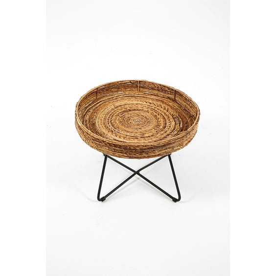 Modern raffia tray top table image