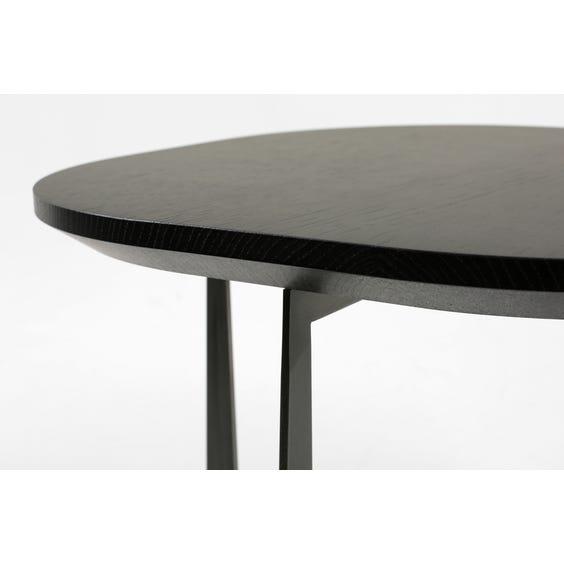 Modern oak floating top side table  image