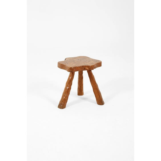 Midcentury French burr elm side table image
