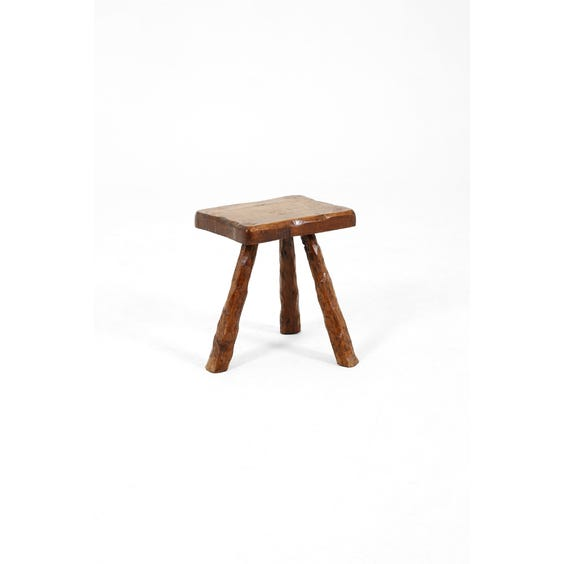Midcentury French oak side table  image