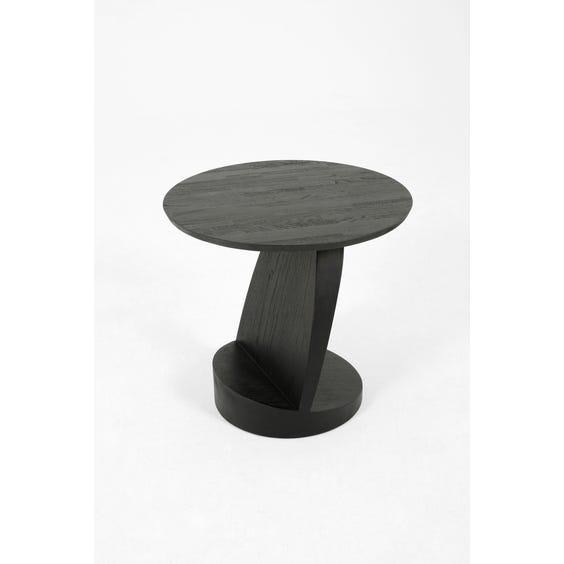 Modern ebonised wood sculptural side table  image