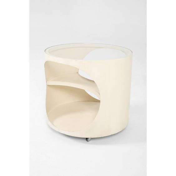 White space age plywood side table image
