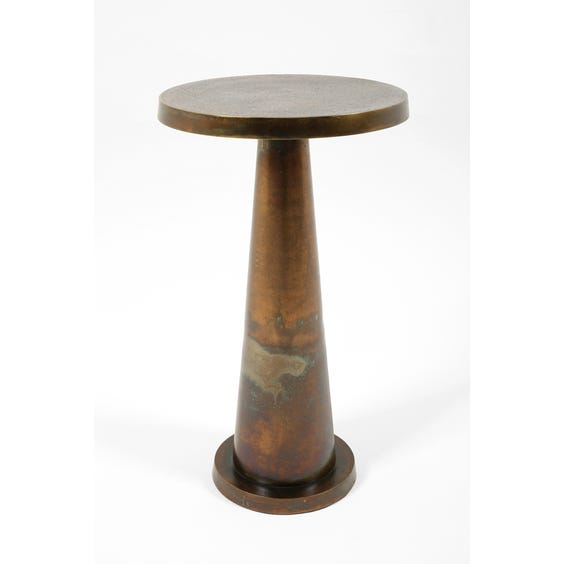Modern burnished brass side table  image