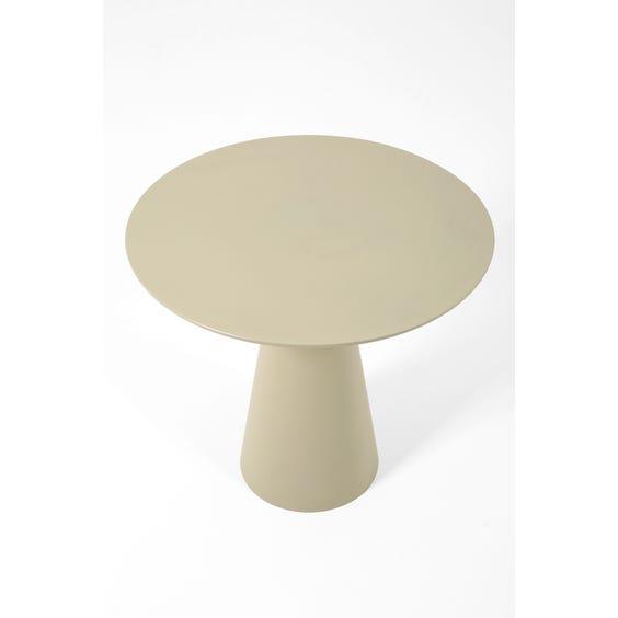Postmodern putty grey circular table  image