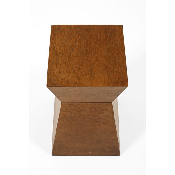 Sculptural walnut side table  image