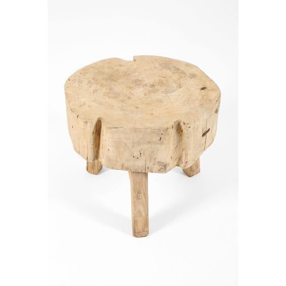 Primitive block side table image