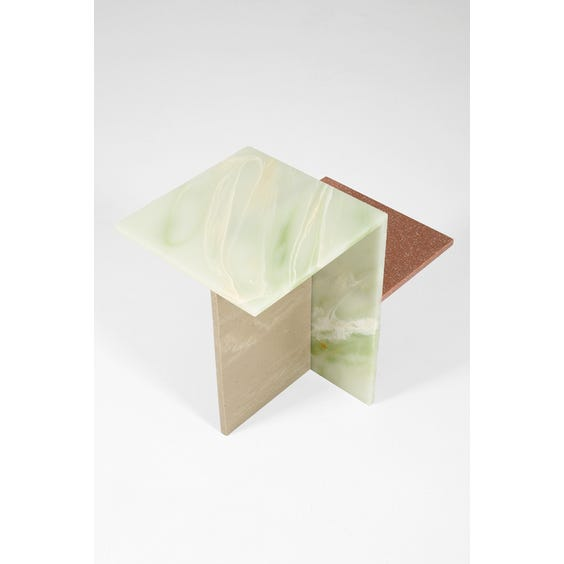 Postmodern two tier side table image