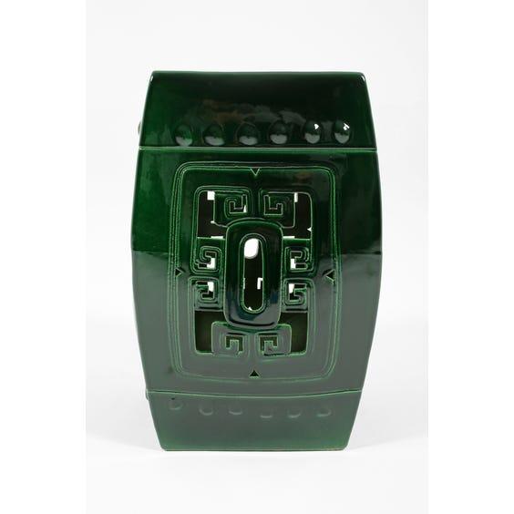 Ceramic square drum table image