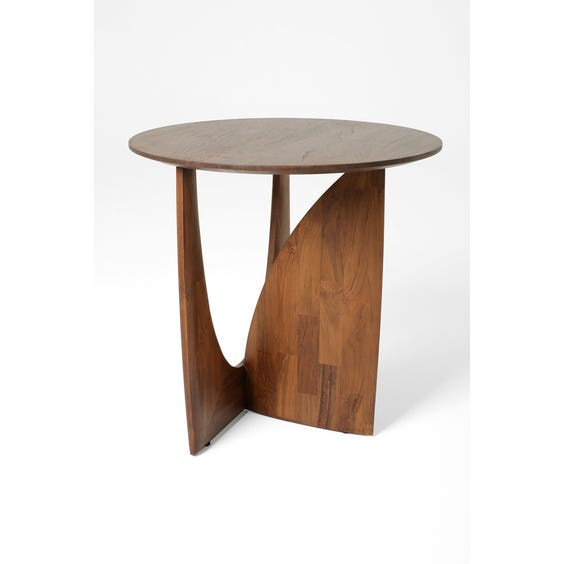 Modern walnut marquetry table  image