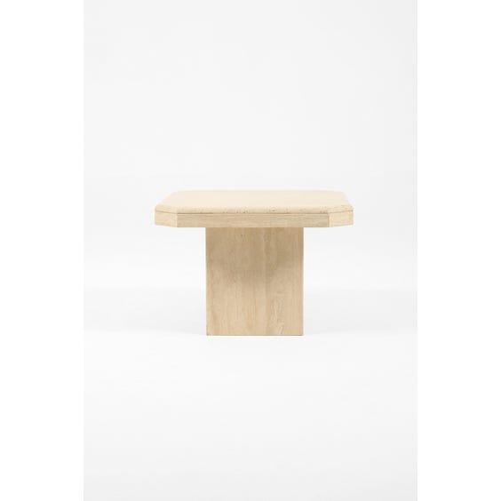 Italian travertine side table image