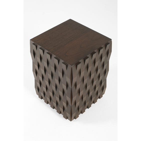 Geometric plinth side table image