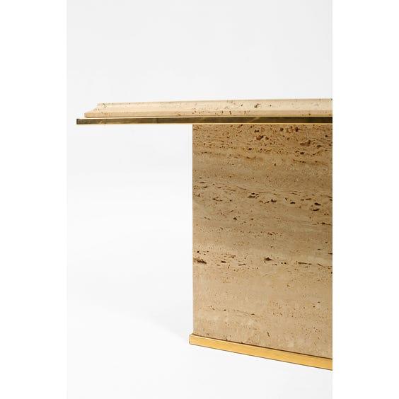 Belgian travertine side table  image