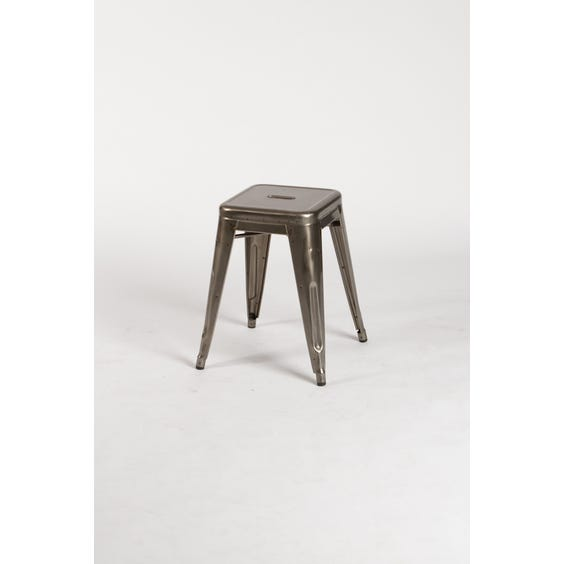 French Tolix steel low stool image