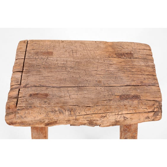 Rustic Chinese elm rectangular stool image