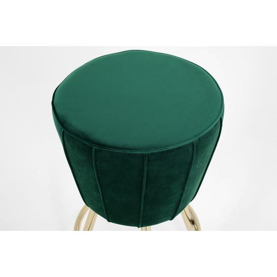 Emerald velvet swivel stool image