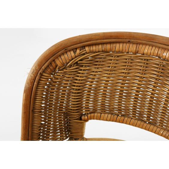 1970's circular wicker bar stool image