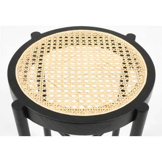Modern black painted wooden stool image