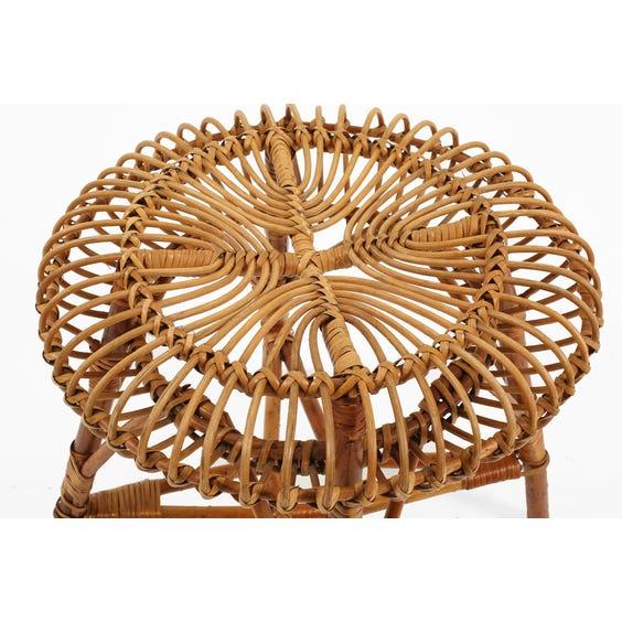 Italian circular bamboo  stool image