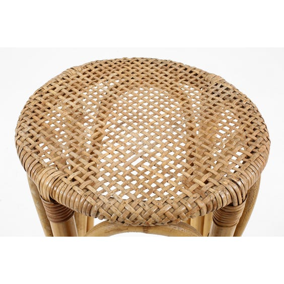 Midcentury rattan bar stool image