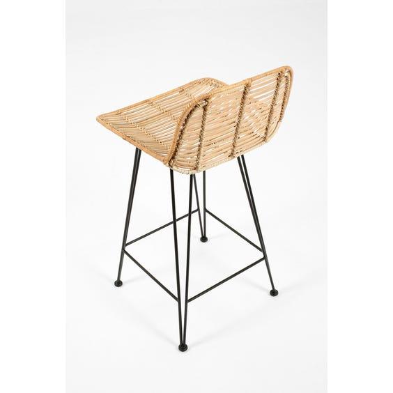 Rattan bar stool image