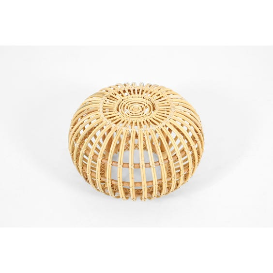 Small rattan Franco Albini stool image