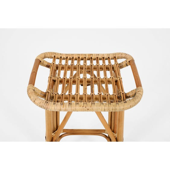 Danish rattan bar stool image