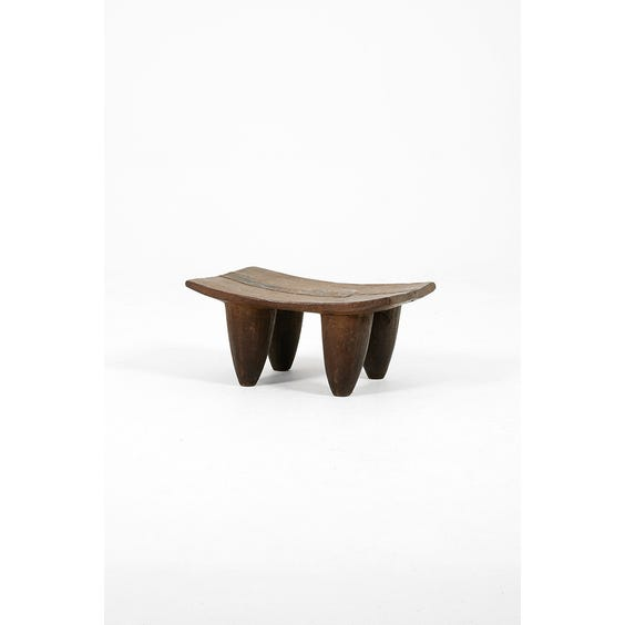 Wood and iron primitive stool image