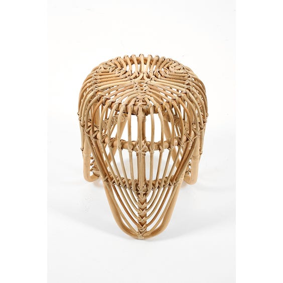 Circular rattan low petal stool image