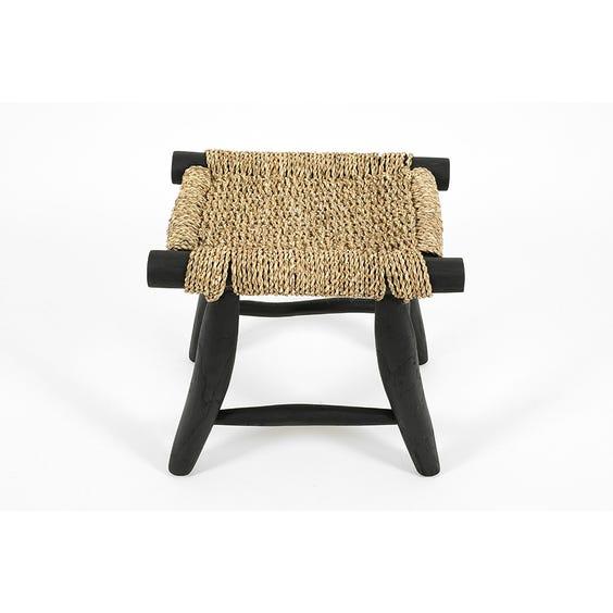 Primitive ebonised rope stool image