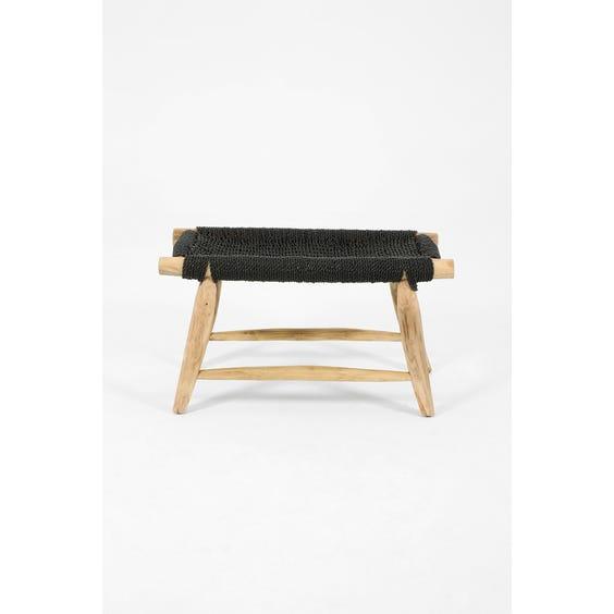 Modern primitive pale wooden stool image