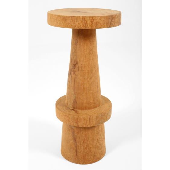 Modern solid carved wood bar stool  image
