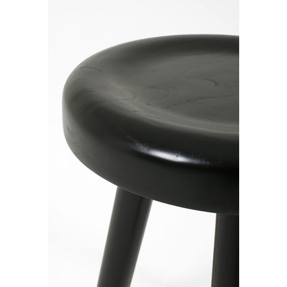 Ebonised solid wood milking stool image