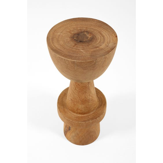 Solid carved wood bar stool image